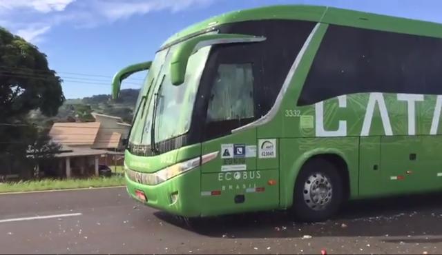 Video: Xe buýt chở đội tuyển Brazil hứng cơn mưa trứng và gạch đá từ các CĐV quá khích - Ảnh 2.