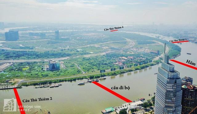 Toàn cảnh dự án cầu Thủ Thiêm 2 đang thi công nối khu trọng điểm Quận 1 có KĐT Thủ Thiêm - Ảnh 1.