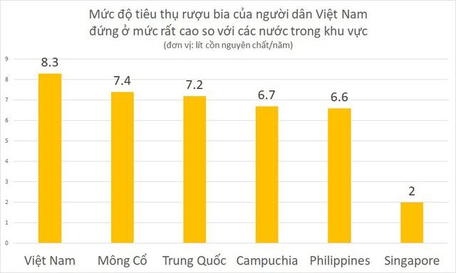 Tổ chức Y tế Thế giới khuyến nghị Việt Nam kiểm soát tiêu thụ rượu, bia - Ảnh 1.