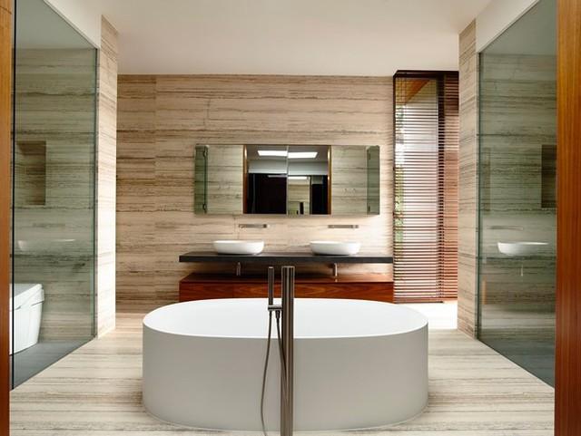 Biệt thự trang trí bằng gỗ ấn tượng - Ảnh 12.