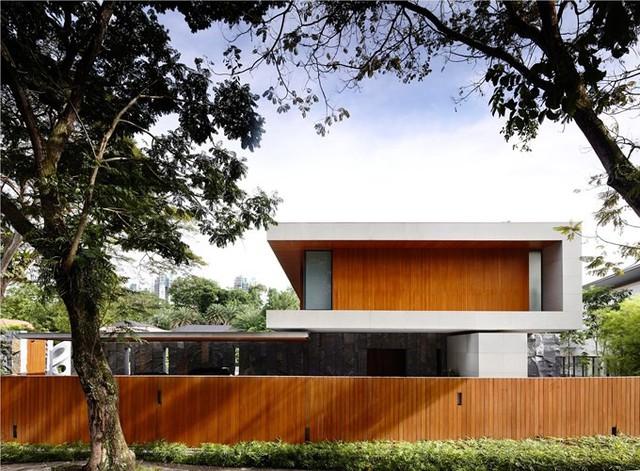 Biệt thự trang trí bằng gỗ ấn tượng - Ảnh 3.