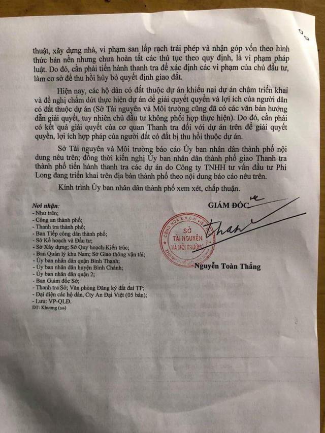 Một dự án BĐS ở khu Nam Sài Gòn 14 năm chưa thực hiện, chủ đầu tư bị tố có hành vi lừa đảo - Ảnh 3.