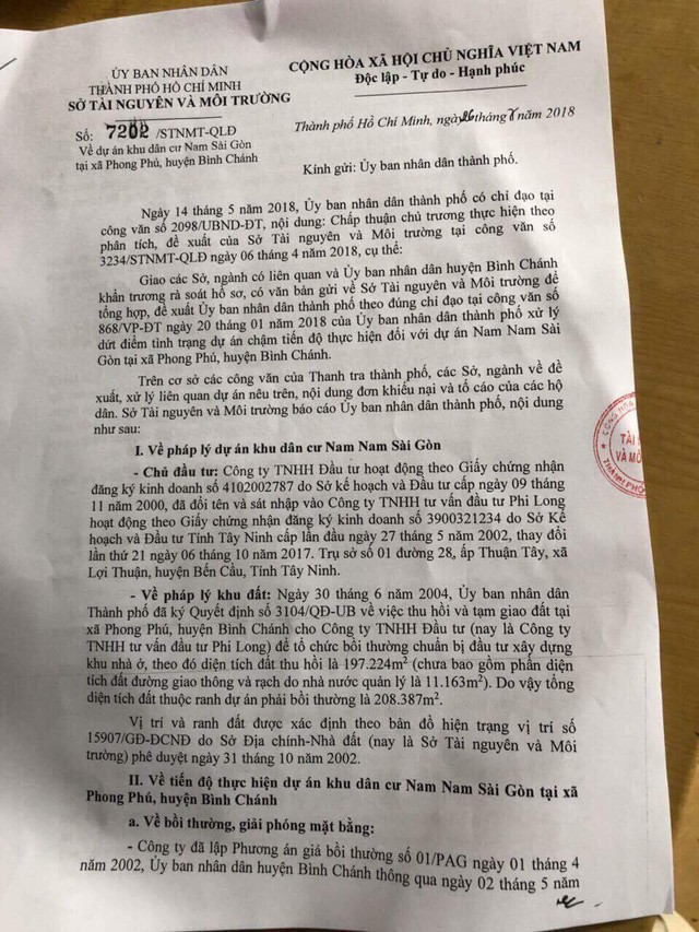 Một dự án BĐS ở khu Nam Sài Gòn 14 năm chưa thực hiện, chủ đầu tư bị tố có hành vi lừa đảo - Ảnh 1.