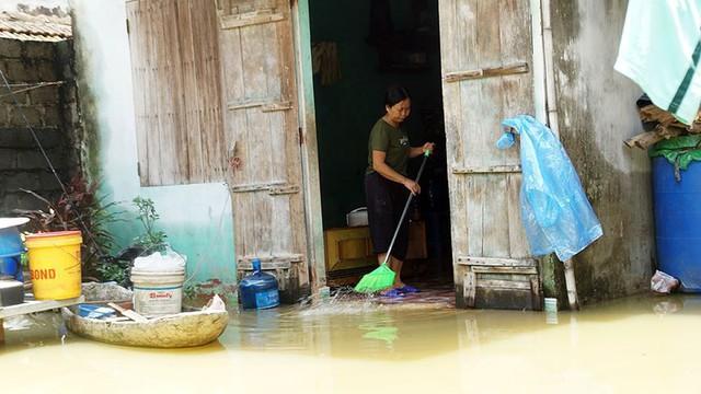 Rác thải cùng nước len lỏi vào nhà dân vùng rốn lũ Hà Nội  - Ảnh 11.