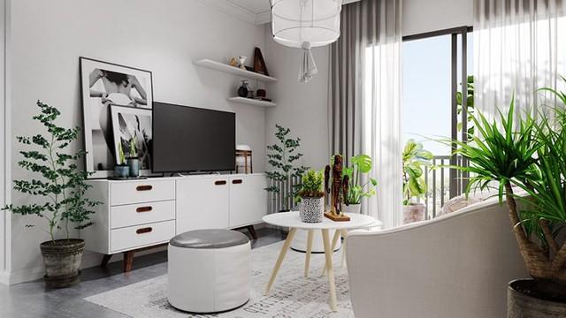 Căn hộ đẹp lạ được trang trí bằng hai màu sắc xám và trắng - Ảnh 3.