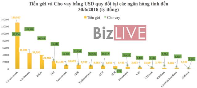 """Siết tín dụng ngoại tệ: Ngân hàng nào đang """"ôm"""" cho vay USD nhiều nhất? - Ảnh 1."""