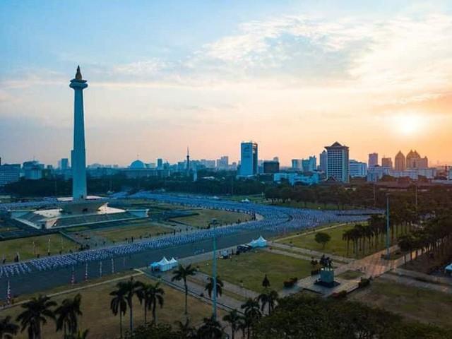 Indonesia thiết lập kỷ lục guiness khi tổ chức khai mạc Asiad - Ảnh 13.