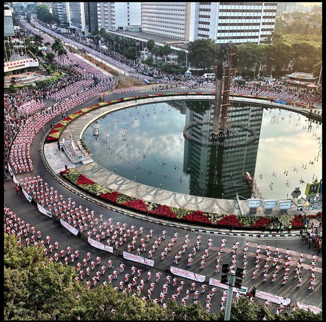 Indonesia thiết lập kỷ lục guiness khi tổ chức khai mạc Asiad - Ảnh 6.