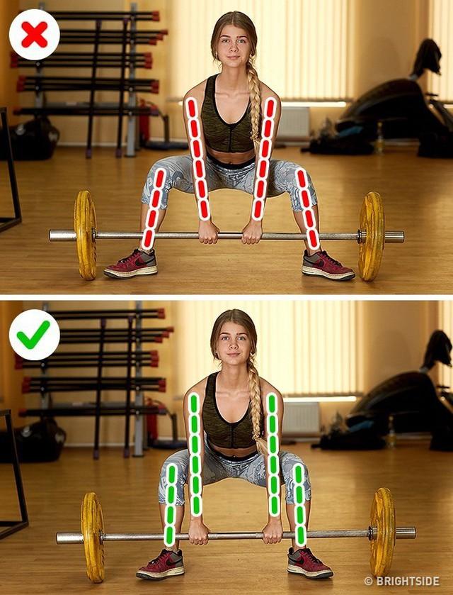 Đây là những động tác tập luyện rất phổ biến nhưng cũng rất nhiều người tập sai gây nguy hại cho sức khỏe - Ảnh 7.