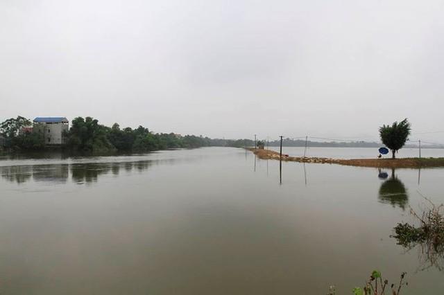 Hà Nội: Nước sông Bùi rút sâu, người dân ra đê câu cá  - Ảnh 3.