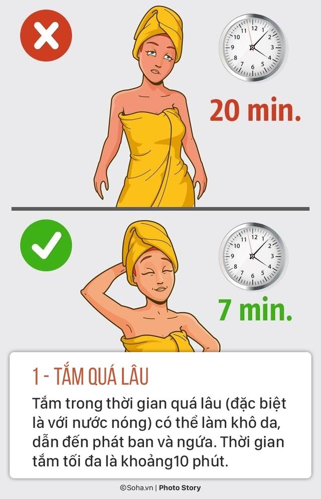 Sửa ngay 5 thói quen tắm sai lầm gây hại sức khoẻ mà nhiều người có thể đang làm mỗi ngày - Ảnh 1.