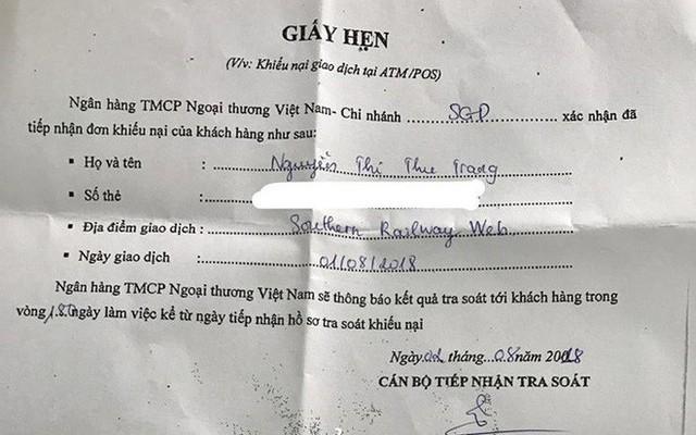 """Hơn 60 triệu đồng trong thẻ Visa Vietcombank """"không cánh mà bay"""" - Ảnh 3."""