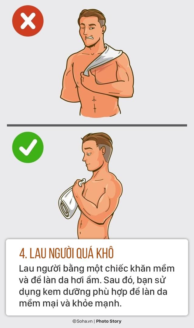 Sửa ngay 5 thói quen tắm sai lầm gây hại sức khoẻ mà nhiều người có thể đang làm mỗi ngày - Ảnh 4.