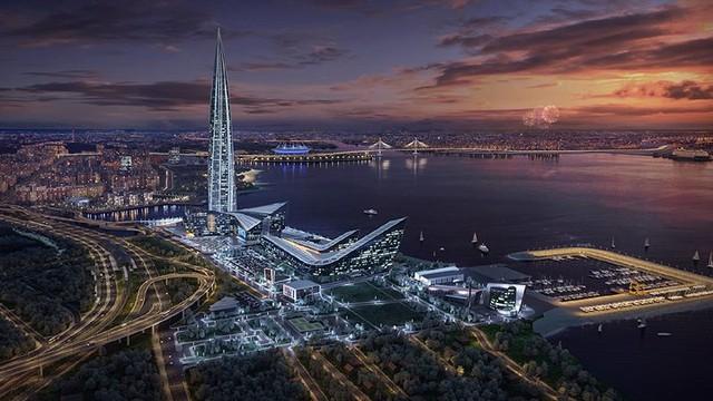 Ảnh: Chóng mặt với tòa tháp cao nhất châu Âu sắp hoàn thành tại Nga - Ảnh 1.