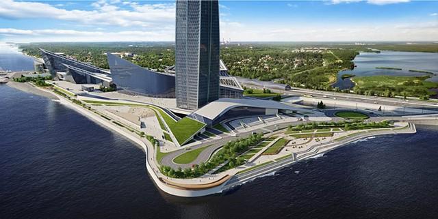 Ảnh: Chóng mặt với tòa tháp cao nhất châu Âu sắp hoàn thành tại Nga - Ảnh 12.