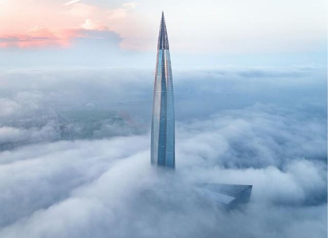 Ảnh: Chóng mặt với tòa tháp cao nhất châu Âu sắp hoàn thành tại Nga - Ảnh 15.