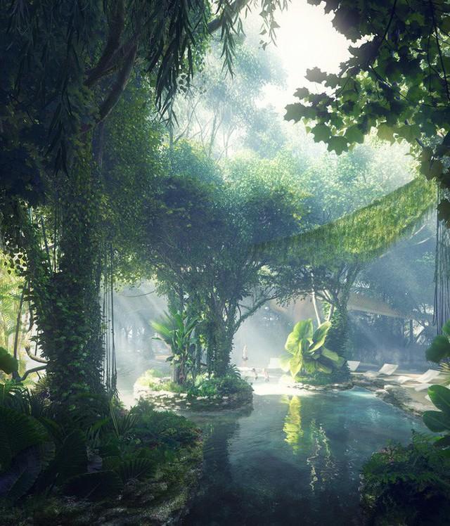 Dubai chi 12.800 tỷ để xây dựng khách sạn kết hợp rừng mưa nhiệt đới đầu tiên trên thế giới - Ảnh 3.