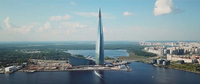 Ảnh: Chóng mặt với tòa tháp cao nhất châu Âu sắp hoàn thành tại Nga - Ảnh 3.