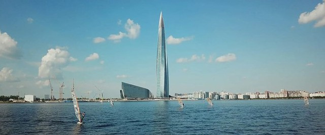 Ảnh: Chóng mặt với tòa tháp cao nhất châu Âu sắp hoàn thành tại Nga - Ảnh 6.