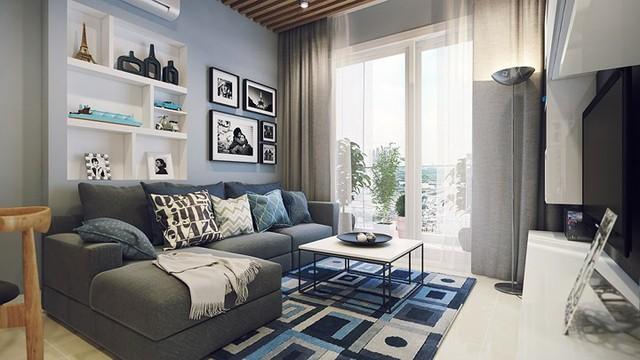 Căn hộ 66 m2 được thiết kế hợp lý cho gia đình 3 thành viên - Ảnh 1.