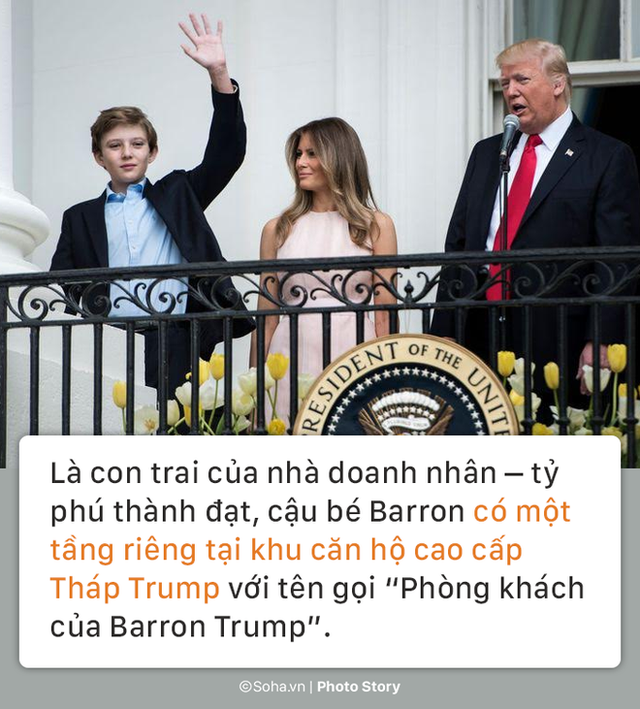 [PHOTO STORY] Con trai út của TT Trump: Thích vest, hay chơi golf, 12 tuổi cao gần 1,9m - Ảnh 6.