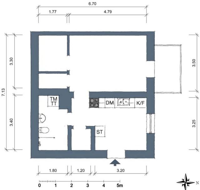 Thiết kế căn hộ 46m2 rộng thoáng không ngờ, đốn tim vạn người - Ảnh 17.