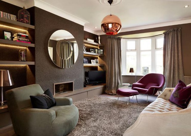 10 ý tưởng biến hóa phòng khách rộng không ngờ - Ảnh 9.