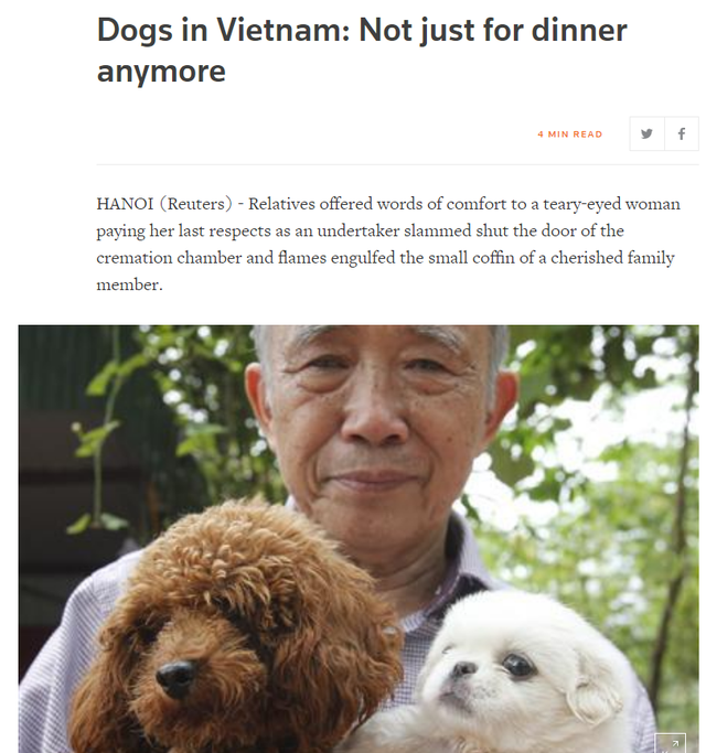 Góc nhìn thú vị của nhiều báo lớn quốc tế về vấn đề ăn thịt chó tại Việt Nam - Ảnh 2.