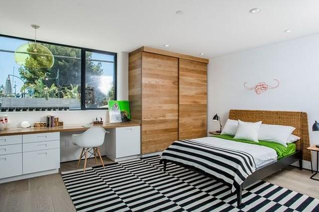 Thiết kế phòng ngủ có bên trong xe bằng gỗ ấm áp - Ảnh 17.