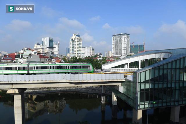 13 đoàn tàu đường sắt Cát Linh - Hà Đông đang chạy thử trong sáng nay - Ảnh 17.