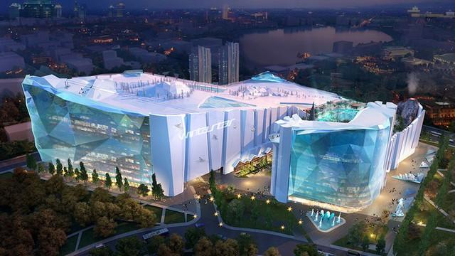 Khu nghỉ dưỡng và trượt tuyết trong nhà lớn nhất thế giới: Diện tích khủng, dự kiến mở cửa đúng Olympic mùa đông  - Ảnh 1.