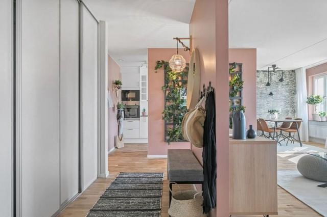 Căn hộ 2 phòng ngủ thiết kế ấn tượng với gam màu hồng cho những gia đình trẻ - Ảnh 2.