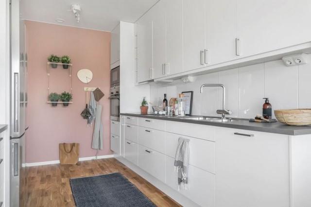 Căn hộ 2 phòng ngủ thiết kế ấn tượng với gam màu hồng cho những gia đình trẻ - Ảnh 12.