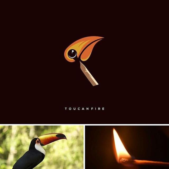 Kết hợp những thứ chẳng liên quan lại với nhau, designer Indonesia tạo ra loạt logo siêu sáng tạo - Ảnh 1.