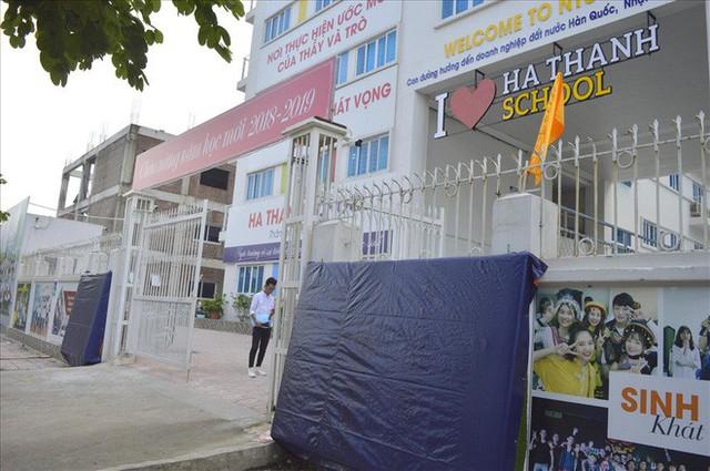 Thanh tra Hà Nội vào cuộc, hàng loạt biển trường học đột nhiên được che bịt - Ảnh 3.