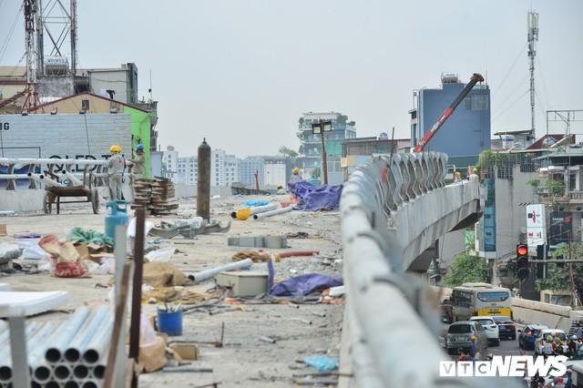 Ảnh: Dự án cầu vượt An Dương - Thanh Niên hơn 300 tỷ đồng ở Hà Nội sắp hoàn thành - Ảnh 3.