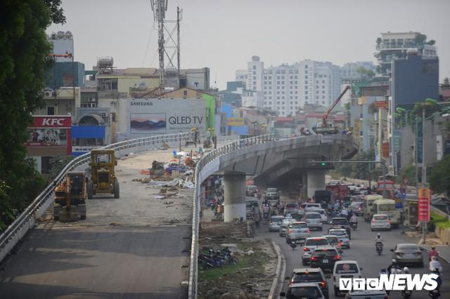 Ảnh: Dự án cầu vượt An Dương - Thanh Niên hơn 300 tỷ đồng ở Hà Nội sắp hoàn thành - Ảnh 4.