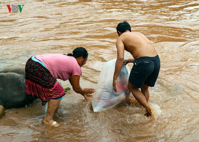 Trưởng phòng GD&ĐT huyện: Học sinh chui túi nilon vượt suối tới trường là tương đối an toàn - Ảnh 1.