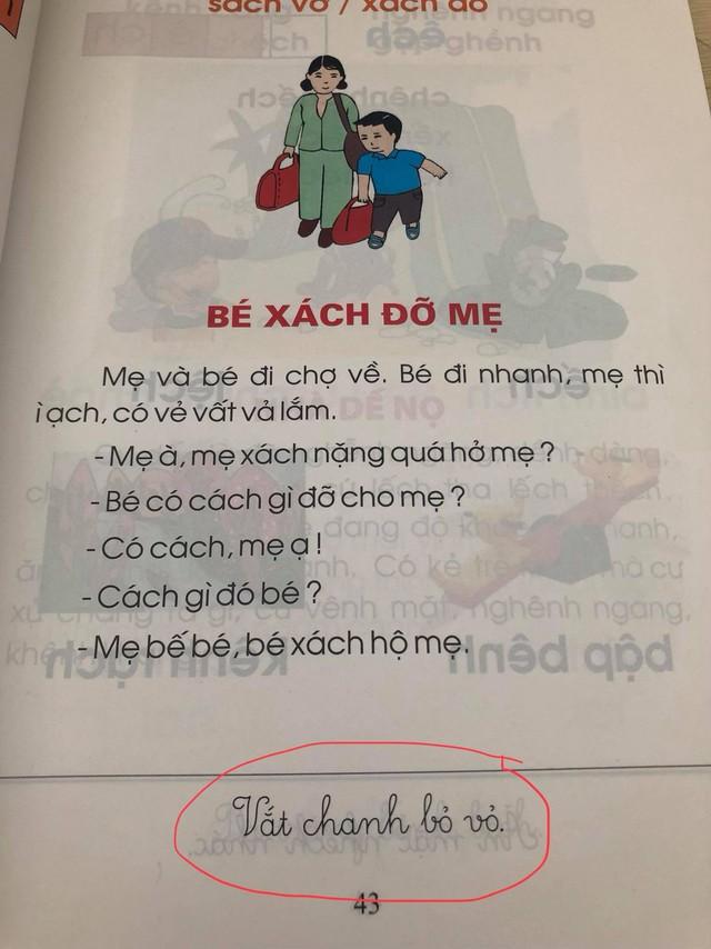 Phụ huynh lo ngại trước bộ sách Tiếng Việt lớp 1: Các thành ngữ đều nặng nề, bài đọc thì xỉa xói nhiều hơn là giáo dục - Ảnh 3.