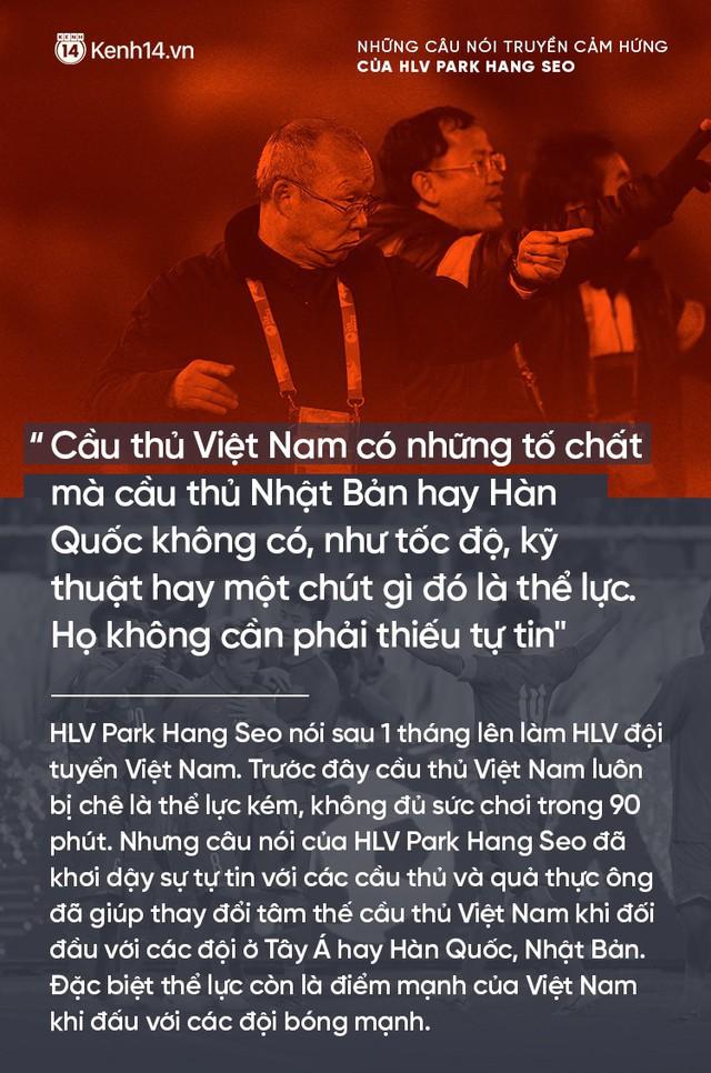 Những câu nói truyền cảm hứng của HLV Park Hang Seo cho bóng đá Việt Nam - Ảnh 1.