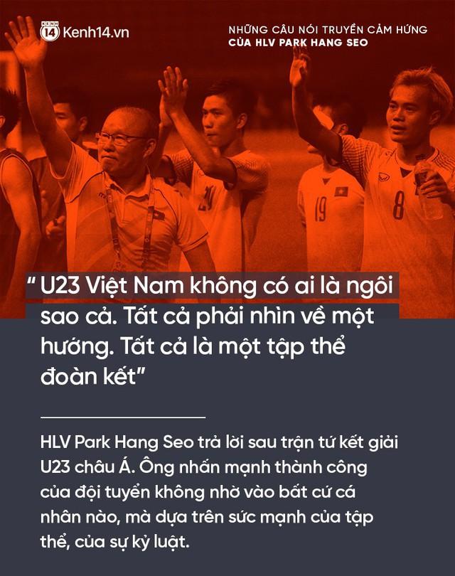 Những câu nói truyền cảm hứng của HLV Park Hang Seo cho bóng đá Việt Nam - Ảnh 2.