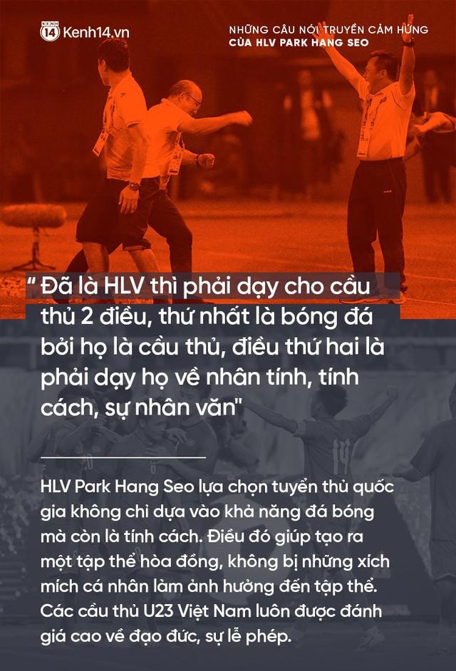 Những câu nói truyền cảm hứng của HLV Park Hang Seo cho bóng đá Việt Nam - Ảnh 6.
