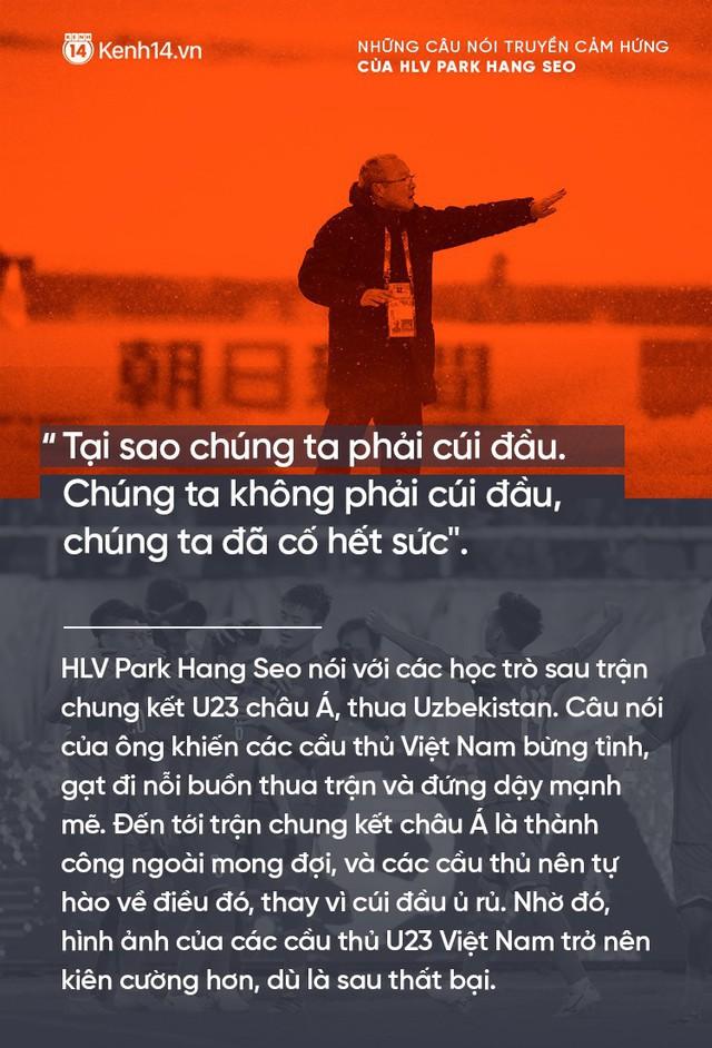 Những câu nói truyền cảm hứng của HLV Park Hang Seo cho bóng đá Việt Nam - Ảnh 7.