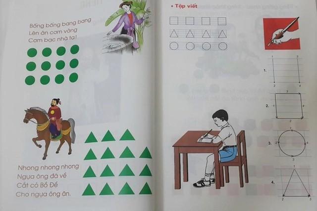 Phụ huynh có con học sách công nghệ giáo dục nói gì về cách đọc ô vuông, tam giác? - Ảnh 1.