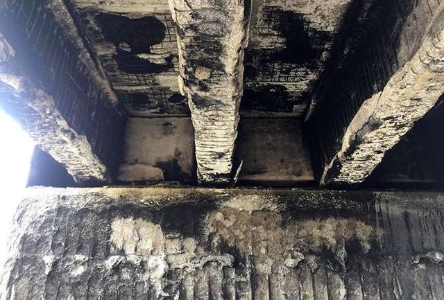 Cầu trơ lõi thép sau vụ cháy xe bồn trên cao tốc Nội Bài - Lào Cai  - Ảnh 10.
