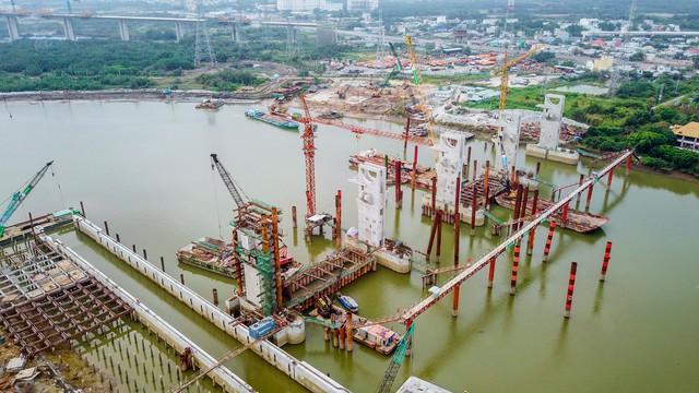 Những hình ảnh mới nhất của dự án chống ngập do triều 10.000 tỷ đồng ở TP.HCM - Ảnh 2.