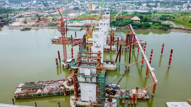 Những hình ảnh mới nhất của dự án chống ngập do triều 10.000 tỷ đồng ở TP.HCM - Ảnh 3.
