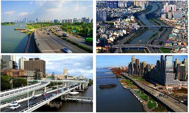 Nếu thực hiện dự án Đại lộ ven sông Sài Gòn, TP.HCM sẽ phải đổi rất nhiều đất cho nhà đầu tư. (Hình mô phỏng lấy từ tài liệu dự án này).