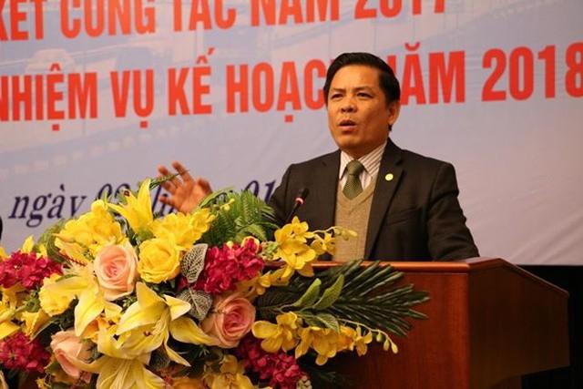 Bộ trưởng GTVT Nguyễn Văn Thể phát biểu tại hội nghị của Tổng cục Đường bộ chiều 2/1/2018