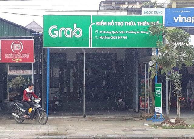 """Dù chưa được cấp phép nhưng Grabtaxi vẫn mở văn phòng tại Huế để hoạt động """"chui""""."""